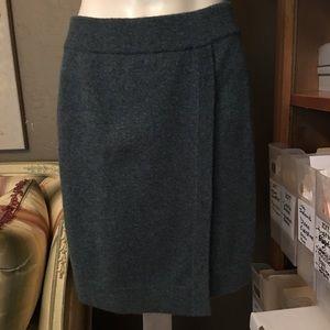 TSE Charcoal Gray Cashmere Wrap Skirt Medium
